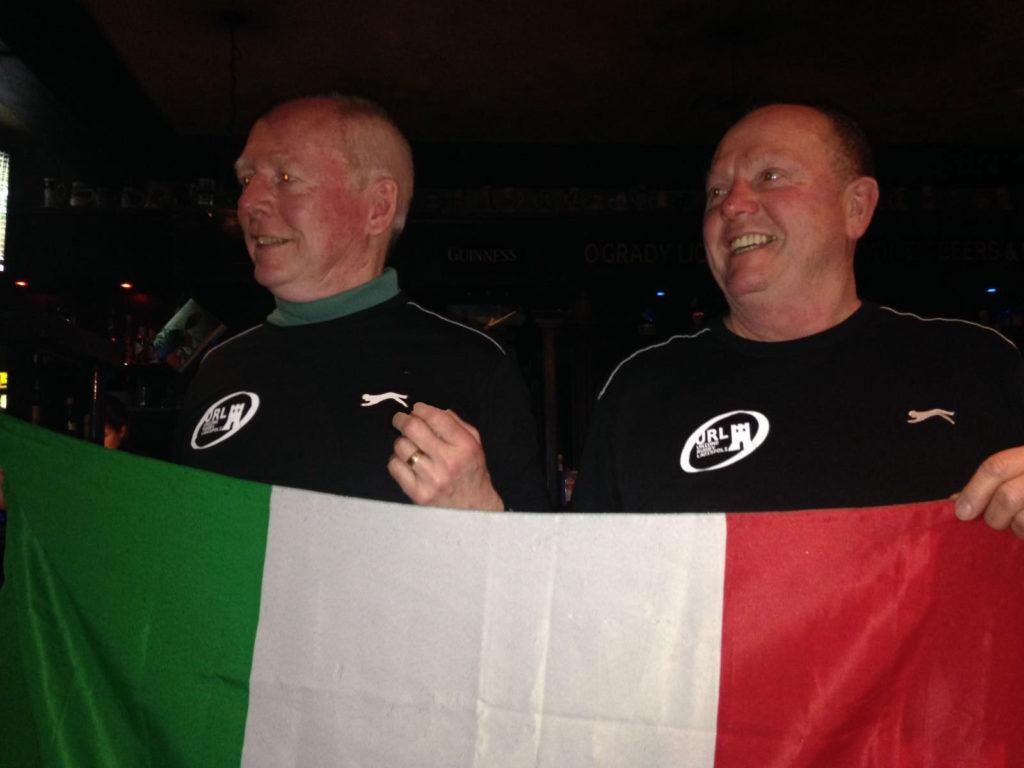 Gallesi con la maglia dell'Unione Rugby Ladispoli