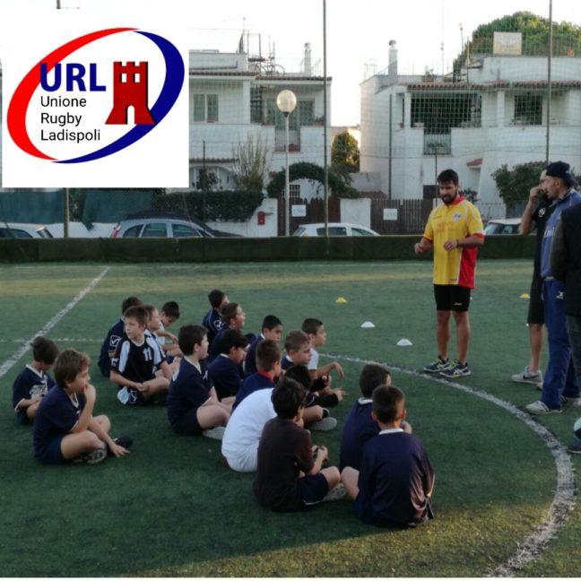 Minirugby a Ladispoli: allenamento congiunto URL-Oriolo