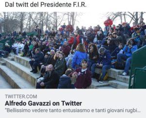 Tweet del Presidente F.I.R. Gavazzi