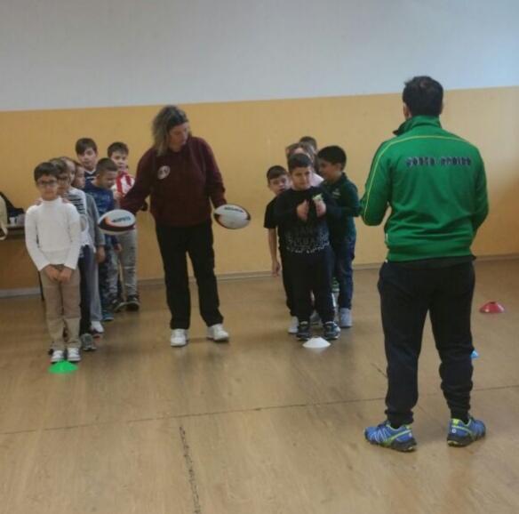 Unione Rugby Ladispoli_scuole medie Ilaria Alpi: Barbara e Giordano