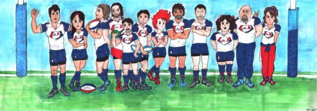 Fumetto allenatori Unione Rugby Ladispoli